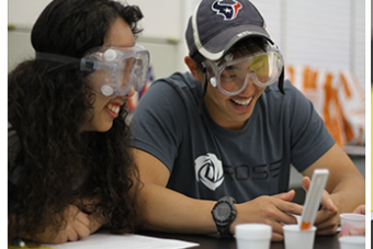 Students with goggles image