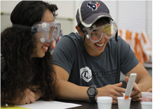 Outreach Students - with goggles